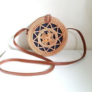 Balinesse Ratan/Straw Summer Crossbody Bag